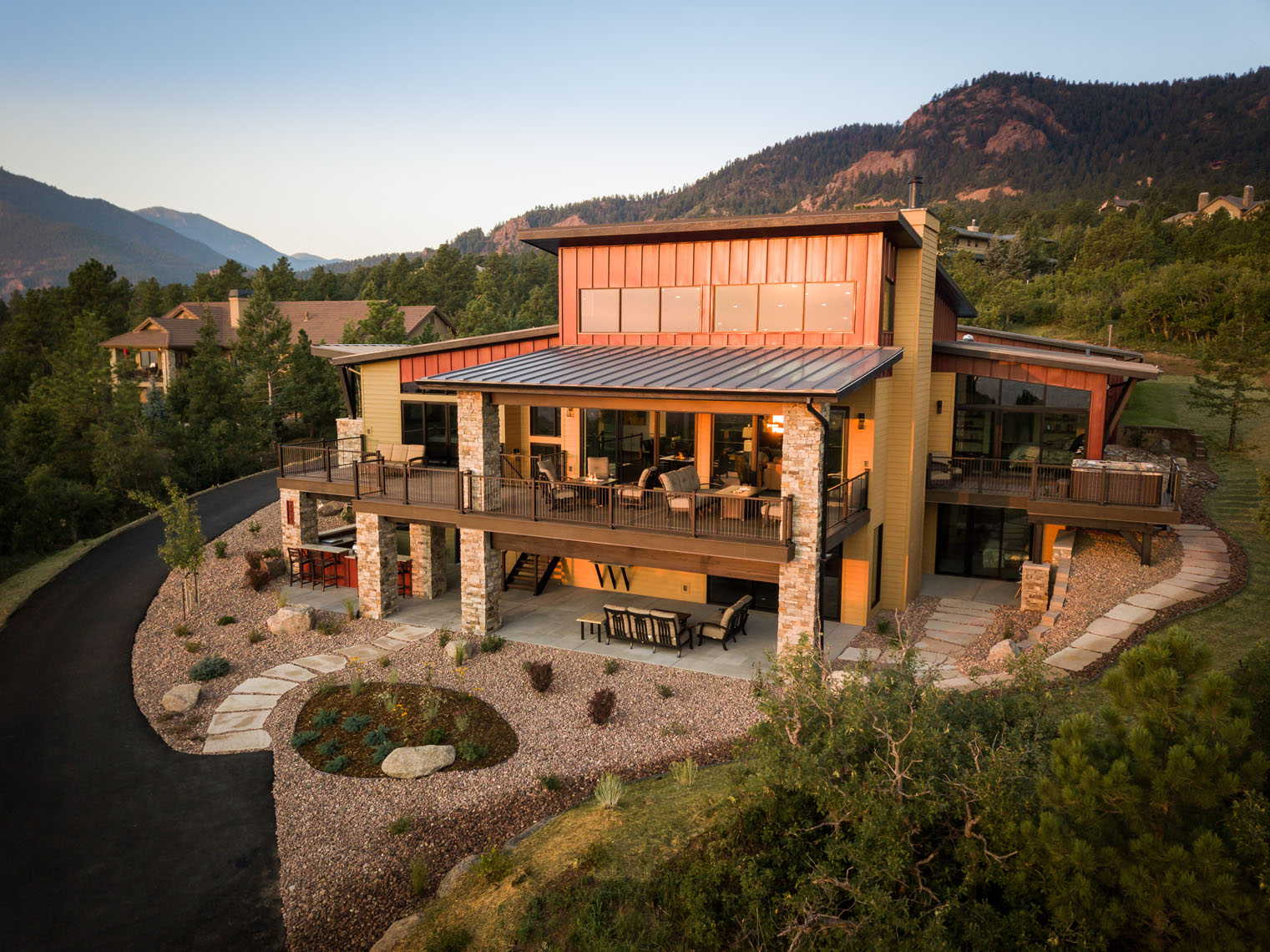 Architectural exterior of residential luxury home Colorado Springs