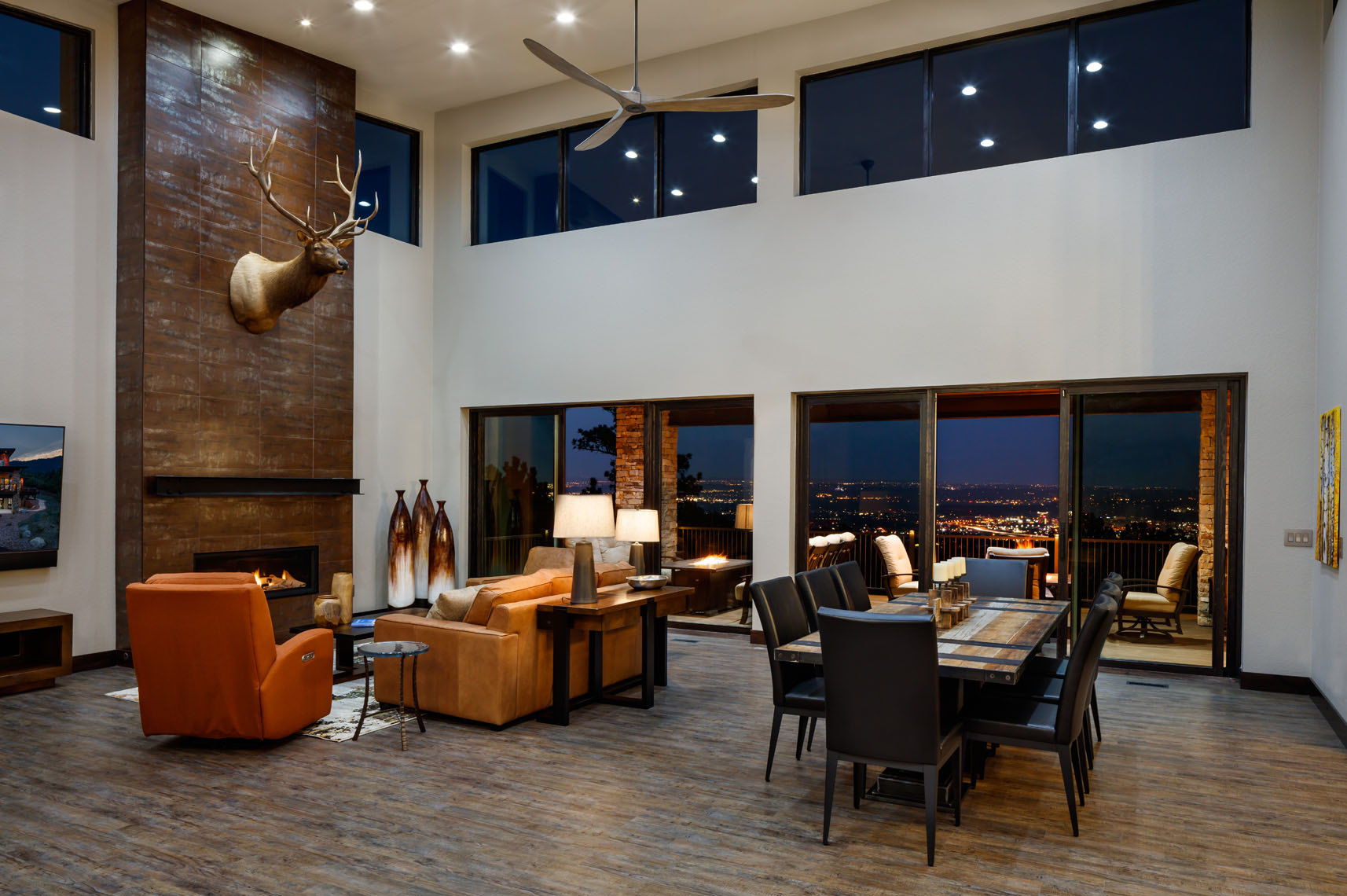 Architectural interior of residential luxury home Colorado Springs