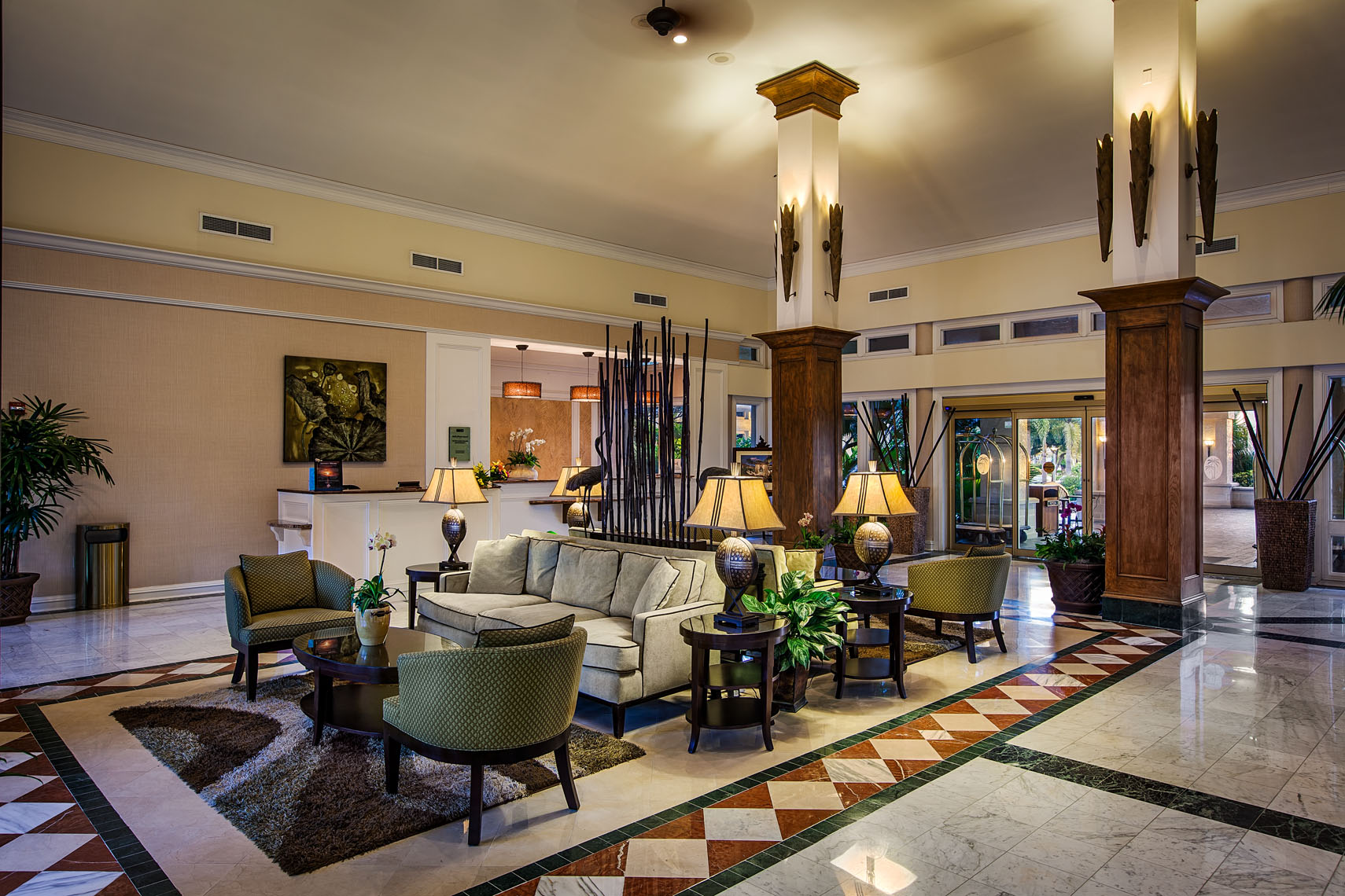 Interior photograph of a luxury hotel resort by Denver Colorado based architectural hotel and resort photographer Richard Steinberger