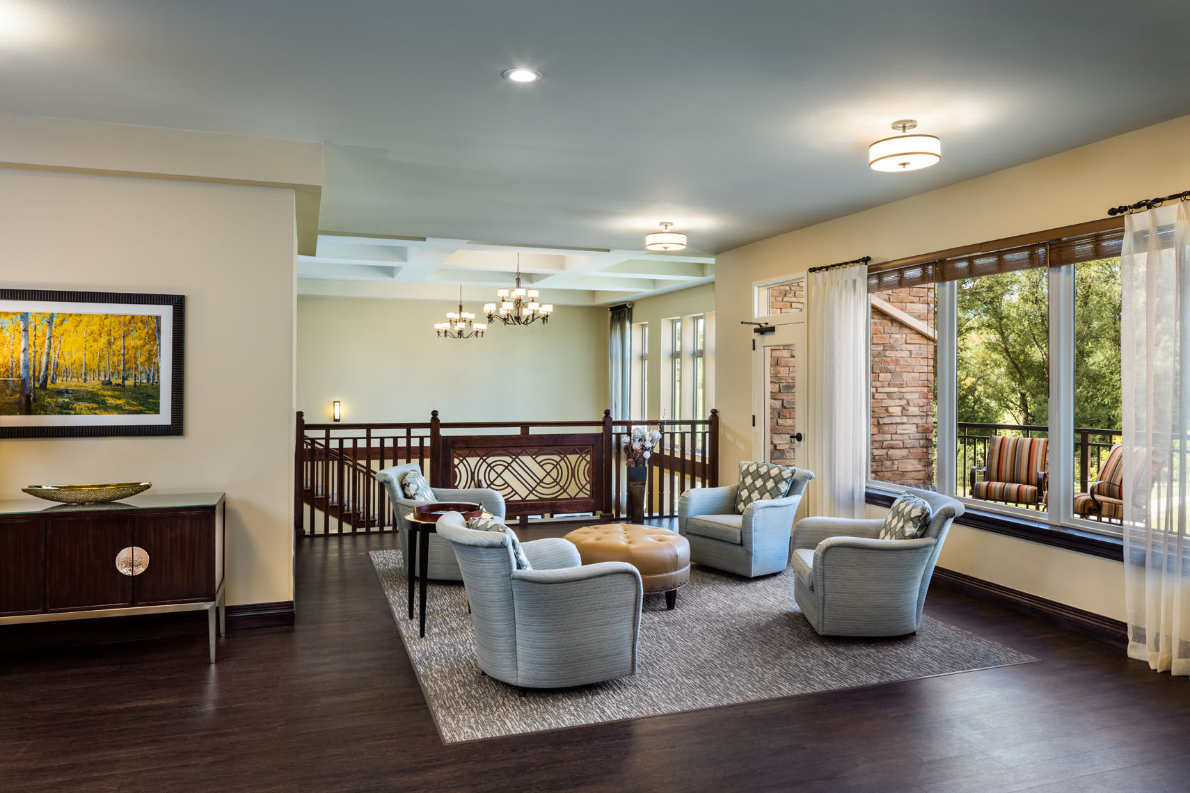 Senior living retirement facility /building interior photographed for the architect and interior designer in denver colorado