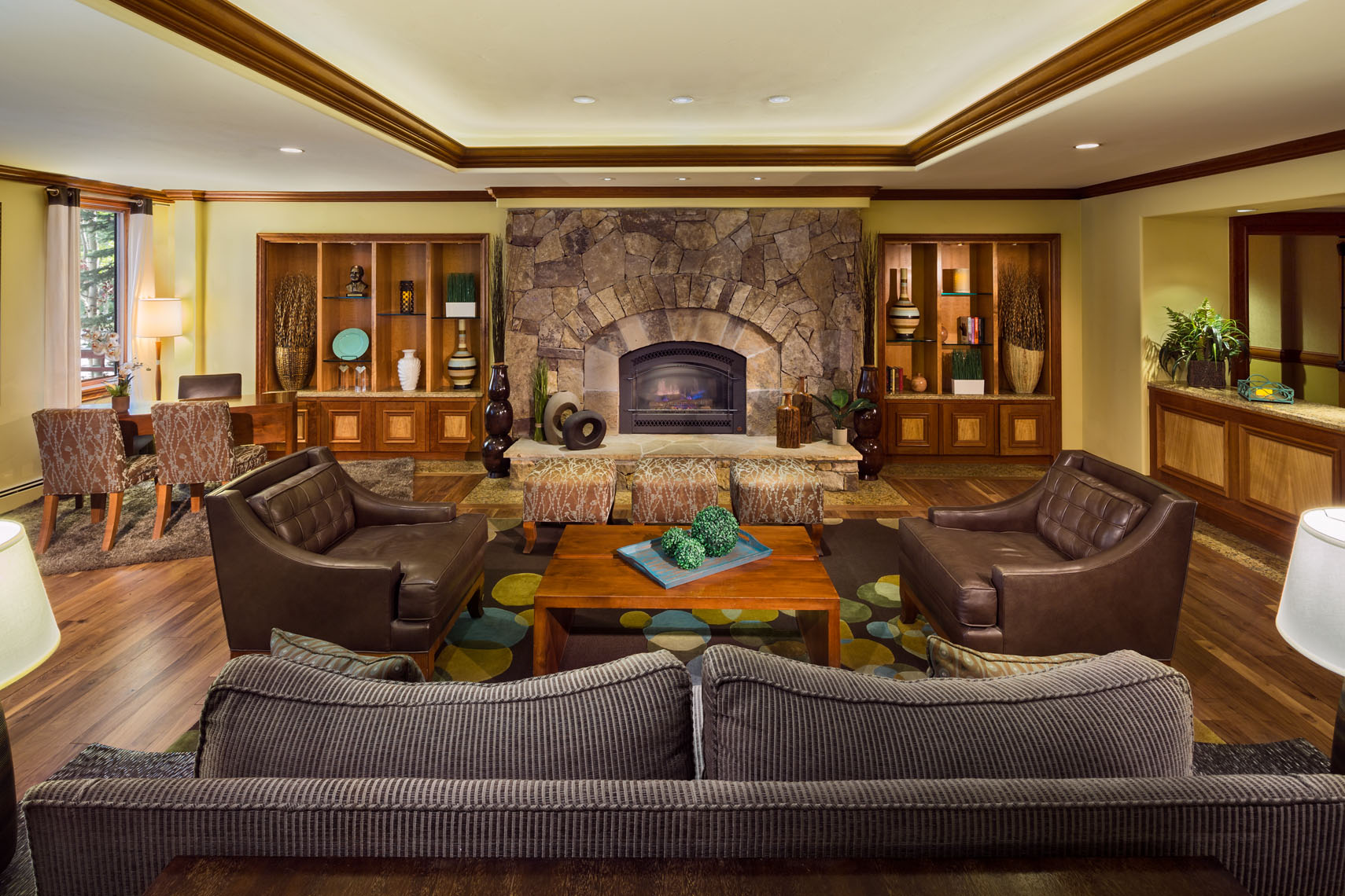 Interior photograph of a luxury hotel resort in Breckenridge Colorado based architectural hotel and resort photographer Richard Steinberger