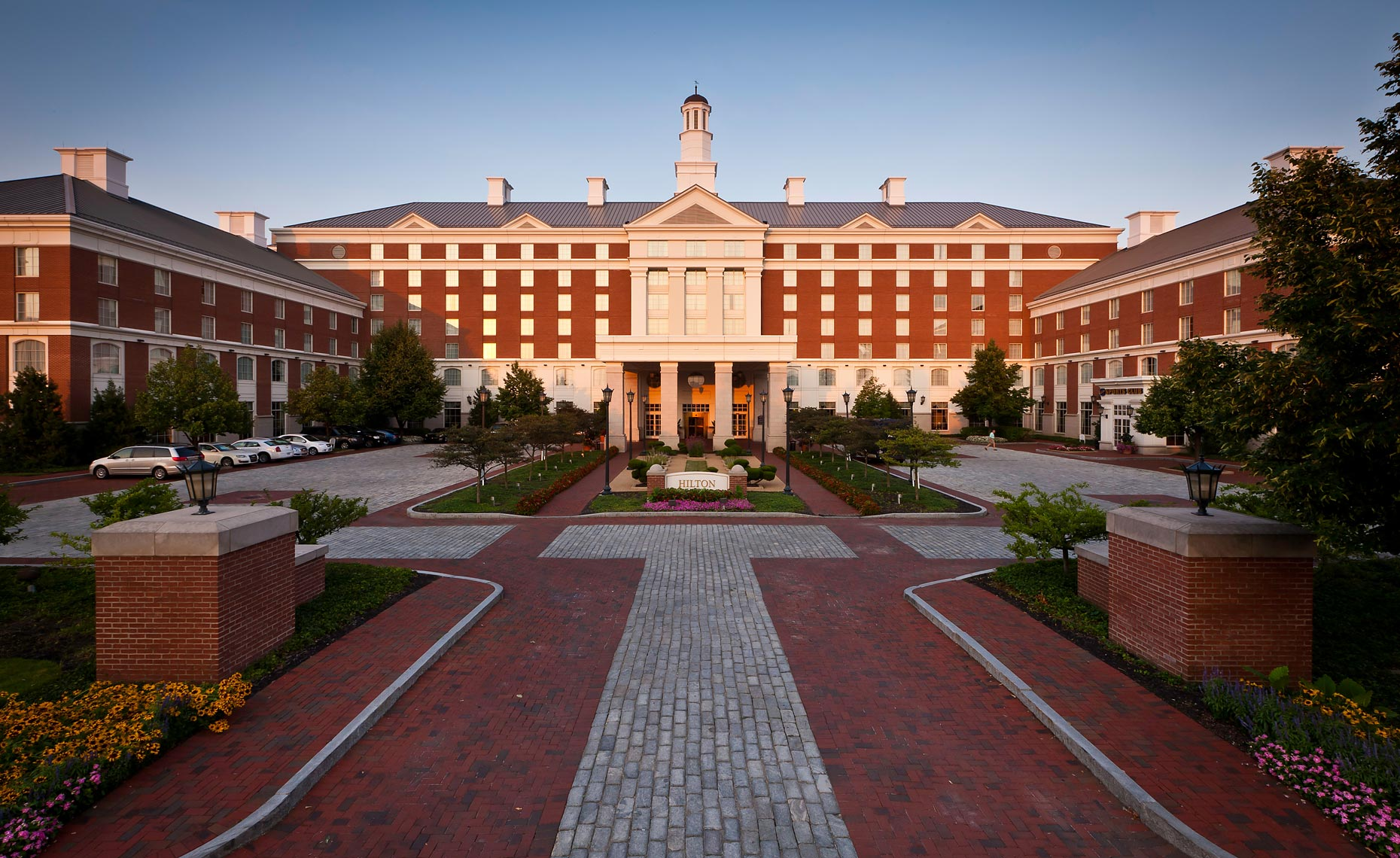 Exterior photograph of a luxury hotel resort by Charleston Beaufort South Carolina based architectural hotel and resort photographer Richard Steinberger