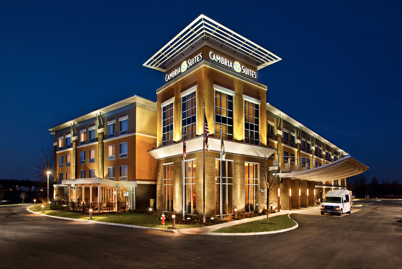Exterior photograph of a luxury hotel resort by  Colorado based architectural hotel and resort photographer Richard Steinberger